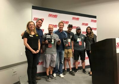 Producer Matt Allegretti, Host Bruno Massel, Truck U & SEMA Members
